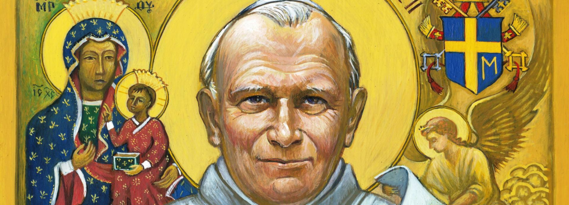 Ikona - Jan Paweł II błogosławi