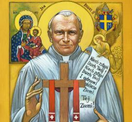 Ikona: Jan Paweł II błogosławi